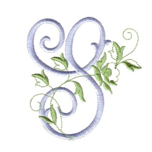 K Letter In Rose Alphabet - The Rose monogram alphabet for machine embroidery NPE