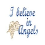 I belive in angels lettering with wings machine embroidery design from http://www.needlepassionembroidery.com