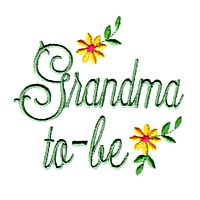 grandma-to-be machine embroidery grandparent embroidery art pes hus dst needle passion embroidery npe