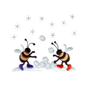 Needle Passion Embroidery Winter Fun With Bees Collection
