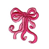 Double bow with ribbons machine embroidery design from http://www.needlepassionembroidery.com
