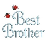 machine embroidery best brother lettering with ladybugs from Neelde Passion Embroidery