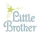 machine embroidery little brother lettering with star from Neelde Passion Embroidery