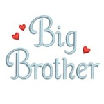 machine embroidery big brother lettering with hearts from Neelde Passion Embroidery