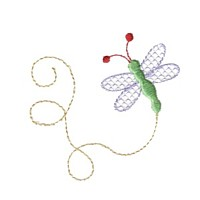 swirly machine embroidery butterfly design with swirly tail art pes hus jef