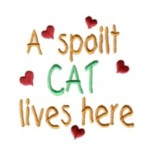 a spoilt cat lives here machine embroidery design cat feline art pes hus dst needle passion embroidery npe