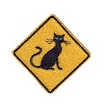 cat traffic sign machine embroidery design feline art pes hus dst needle passion embroidery npe
