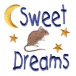 sweet dreams letterinf mouse stars moon machine embroidery design feline art pes hus dst needle passion embroidery npe