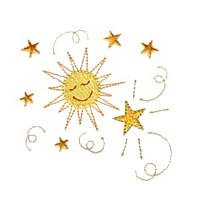 happy celestial sun stars smiliey face smiling machine embroidery design swirl swirly trail tail swirls needle passion embroidery needlepassion npe bernina artista art pes hus jef dst designs