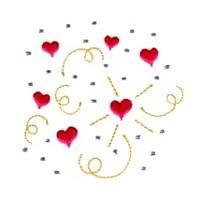 confetti love heart valentine machine embroidery design darling by needle passion embroidery