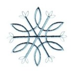 Crystal snowflake machine embroidery design from http://www.needlepassionembroidery.com