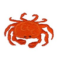crab machine embroidery nautical maritime seaside beach sea swimming fishing design art pes hus dst needle passion embroidery npe