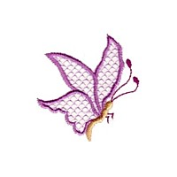 butterfly with lace wings bug critter insect npe needlepassion needle passion embroidery machine embroidery design designs