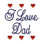 i love dad machine embroidery design mom and dad mum needle passion embroidery npe