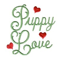 puppy love dog machine embroidery design pet doggy paws needle passion embroidery npe