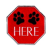 pause here paws here sign dog machine embroidery design pet doggy paws needle passion embroidery npe