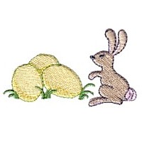 bunny with Easter eggs needle passion embroidery needlepassion npe ltd machine embroidery design