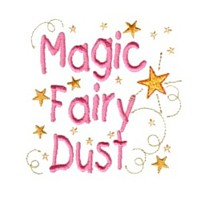 machine embroidery fairy dust girls magic stuff confetti lettering design art pes hus dst needle passion embroidery npe