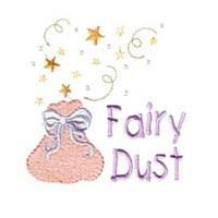 sack of fairy dust machine embroidery fairy dust girls magic stuff confetti lettering design art pes hus dst needle passion embroidery npe