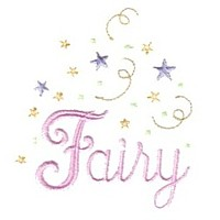 fairy script lettering machine embroidery fairy dust girls magic stuff confetti lettering design art pes hus dst needle passion embroidery npe