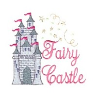 fairy castle building machine embroidery fairy dust girls magic stuff confetti lettering design art pes hus dst needle passion embroidery npe