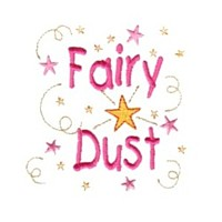 fairy dust machine embroidery fairy dust girls magic stuff confetti lettering design art pes hus dst needle passion embroidery npe