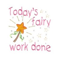 goosnight design today's fairy work done lettering machine embroidery fairy dust girls magic stuff confetti lettering design art pes hus dst needle passion embroidery npe