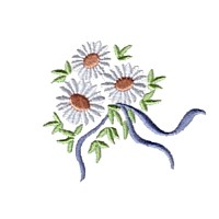 machine embroidery design daisies flower embroidery machine embroidery design npe