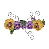 machine embroidery design pansy flower embroidery machine embroidery design npe