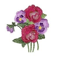 pansies machine embroidery design pansy flower embroidery machine embroidery design npe