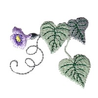 machine embroidery design morning glory flower embroidery machine embroidery design npe