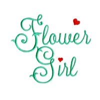 flower girl scrip lettering machine embroidery design love wedding heart party relatives art pes hus dst needle passion embroidery npe