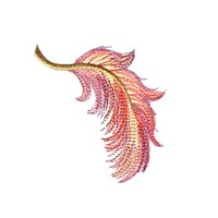 feather plume machine embroidery design variegated multicolored multicoloured thread