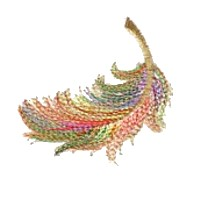 feather machine embroidery for variegated thread art pes hus dst needle passion embroidery npe