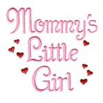 mommy's little girl machine embroidery design girl girls rule diva girly queen crown confetti lettering text slogan art pes hus dst needle passion embroidery npe