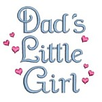 dad's little girl lettering machine embroidery design girl girls rule diva girly queen crown confetti lettering text slogan art pes hus dst needle passion embroidery npe