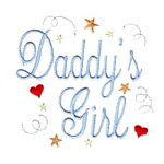 daddy's girl script lettering machine embroidery design girl girls rule diva girly queen crown confetti lettering text slogan art pes hus dst needle passion embroidery npe