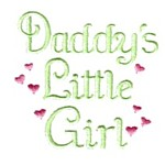 daddy's little girl with hearts lettering machine embroidery design girl girls rule diva girly queen crown confetti lettering text slogan art pes hus dst needle passion embroidery npe