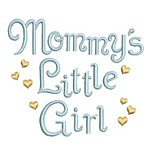 mommy's little girl whimsical machine embroidery design girl girls rule diva girly queen crown confetti lettering text slogan art pes hus dst needle passion embroidery npe