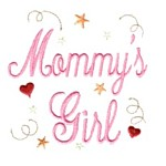 mommy's girl machine embroidery design girl girls rule diva girly queen crown confetti lettering text slogan art pes hus dst needle passion embroidery npe