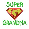 super grandma slogan lettering text saying superhero super hero superman sign logo emblem stitchery machine embroidery design needle passion embroidery needlepassion npe bernina artista art pes hus jef dst designs free sample design with embroidery pack