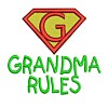 grandma rules slogan text letetring saying superhero super hero superman sign logo emblem stitchery machine embroidery design needle passion embroidery needlepassion npe bernina artista art pes hus jef dst designs free sample design with embroidery pack