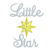 little star machine embroidery art pes hus dst needle passion embroidery npe