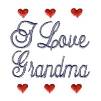 i love grandma machine embroidery grandparent embroidery art pes hus dst needle passion embroidery npe