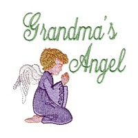 grandma's angel machine embroidery grandparent embroidery art pes hus dst needle passion embroidery npe