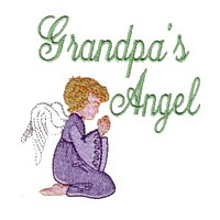 grandpa's angel machine embroidery grandparent embroidery art pes hus dst needle passion embroidery npe