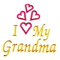 i love my grandma machine embroidery grandparent embroidery art pes hus dst needle passion embroidery npe
