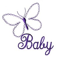 baby butterfly machine embroidery embroidery art pes hus dst needle passion embroidery npe