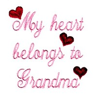 my heart belongs to grandma machine embroidery grandparent embroidery art pes hus dst needle passion embroidery npe