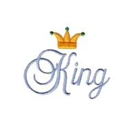 machine embroidery king script lettering with crown machine embroidery design art pes hus jef dst exp needle passion embroidery npe needlepassion